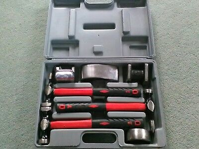 Clarke tools 7 piece panel beating hammer and dolly set, Model number CPB7C