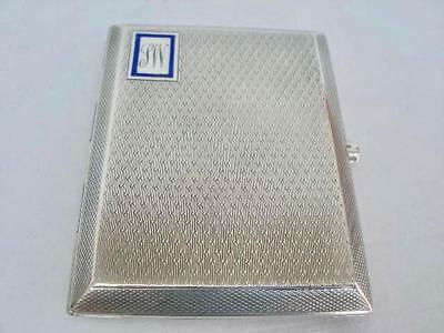Good Sterling Silver Cigarette Case By Cohen & Charles Birmingham 1926.