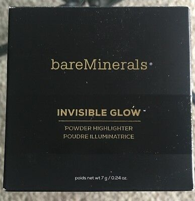 bareMinerals Invisible Glow Powder Highlighter in MEDIUM *New* Boxed, Full Size