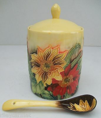 Old Tupton Ware - Jam Jar and Matching Spoon - Sunflowers Design