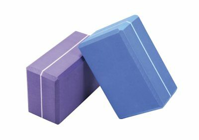Striped yoga block (brick) from Therapy in Motion in Blue