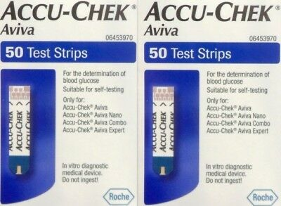 Accu Chek  2 X 50 Test Strips For A Blood Glucose  Monitor   Exp 31 St Oct 2018