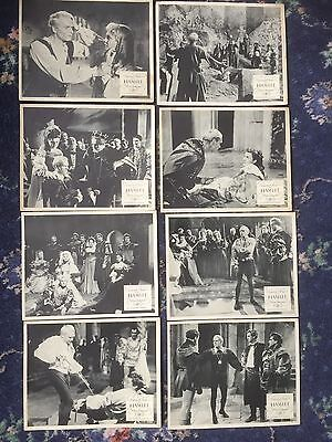 Full Set 8 UK FOH film lobby cards HAMLET Laurence Olivier 1948 Shakespeare
