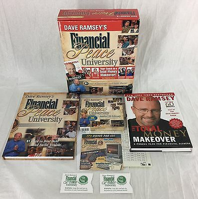 Dave Ramsey Financial Peace University CD's and 2 Book Set