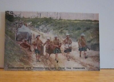 WW II Era Post Card Daily Mail Battle Pictures Series 1 No. 2 Unused