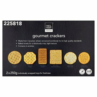 Chef Larder Gourmet Crackers For Cheese 1 X 500G Individually Wrap Serves 20