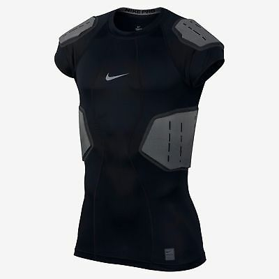 Nike Men's Pro Hyperstrong Compression Core Padded Football Shirt 839930 010 NWT