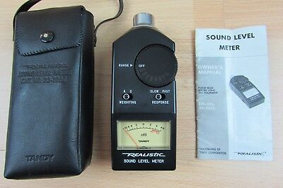 Sound Level Meter TANDY Realistic 33-2050  With Case and Manual