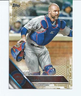 2016 Topps David Ross Gold Card, 1694/2016, Chicago Cubs