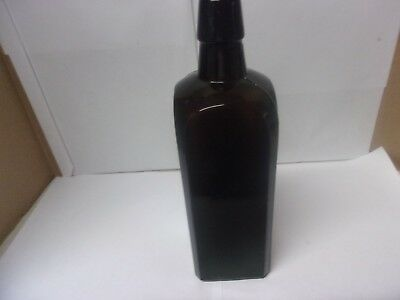 VERY DARK Amber Dr. J. Hostetter's Stomach Bitters Bottle-Antique-Medicine-Cure