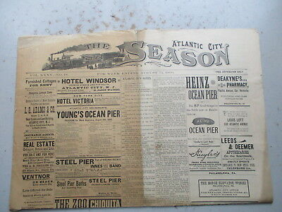 The Atlantic City Season -  August 13, 1900 - MANY HOTEL & OTHER ADS!