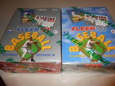 Lot of (2) Factory Sealed 1993 Fleer Baseball Card Boxes-Series 1 & 2!