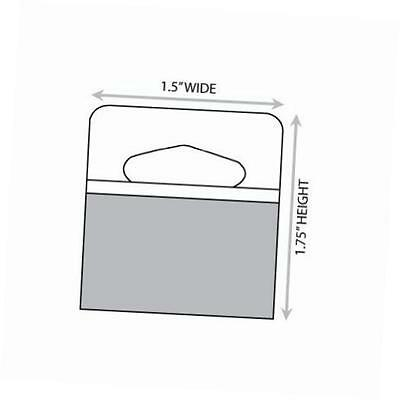 "1-3/4"" x 1-1/2"" slot holed adhesive hang tabs 1000/pack"