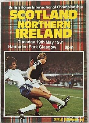 Scotland v Northern Ireland Programme 19.05.1981 Home International @ Hampden