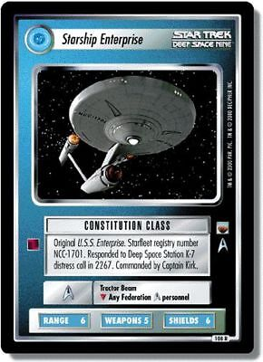 Star Trek CCG TwT Trouble With Tribbles Starship Enterprise 108R