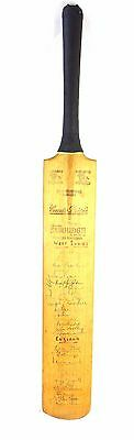 VERY RARE - SS CRICKET BAT - HAND SIGNED BY 80 CRICKETING LEGENDS - 1955 onwards