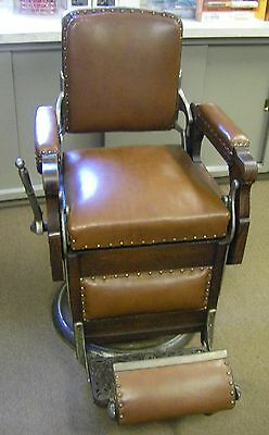 Antique Barber Chair- Wooden Koken - Local Pick Up Only