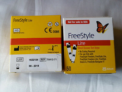 Freestyle Lite test strips.