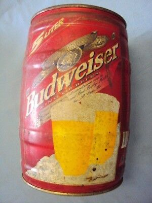 Budweiser 5 Liter Large Empty Keg Can Born Date Aug 05 98 SS84 King of Beers