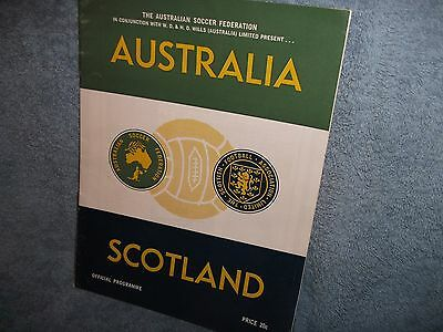 Australia V Scotland Football Programme 31-5-1967...friendly