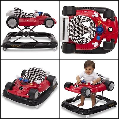 Baby Activity Walker Lil' Drive Race Car Infant Toy Toddler Boy Sound Lights NEW