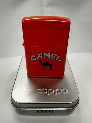 Barely Used 1991 Orange Matte Outdoor Camel Zippo Lighter I-VIII