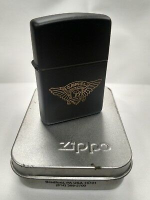 New 1994 Black Matte Camel Biker Wings Zippo Lighter K-X