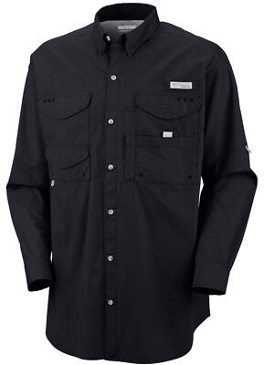 Columbia Bonehead Long Sleeve Collared Shirt - Medium - Black