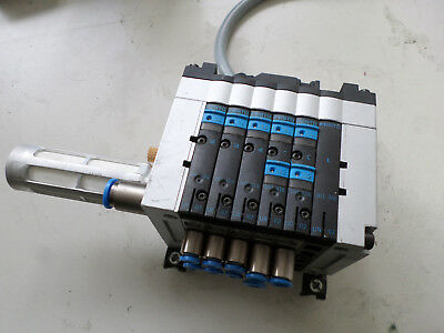 FESTO COMPACT VALVE BLOCK and MANIFOLD - 5 x 5/2 Valves 24DC plus Fittings