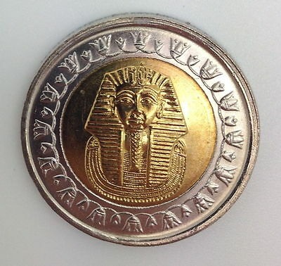 EGYPT - ONE EGYPTIAN NOTE  King TUT Uncirculated One Pound Coin,
