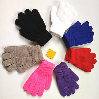 Durable Children Gloves Winter Warm Unisex Kids Stretchy Knitted Mittens Gift
