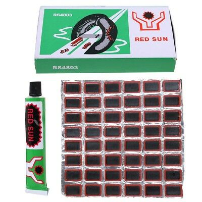 48pcs Bike Tire Bicycle Kit Patches Repair Glue Tyre Tube Rubber Puncture AU