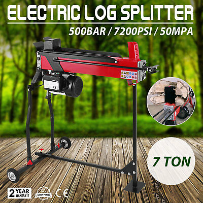 2200W Hydraulic log splitter 7 ton 520 mm wood timber cutter axe electric Stand