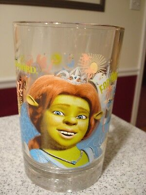 2007 McDonald's Shrek the Third Fiona Collectible Glass~Excellent Condition