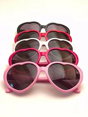 KIDS GIRLS Heart Shaped junior size JR sunglasses 5 COLORS Toddler Children Baby