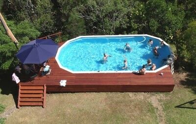 Above ground pool package round deep salt Clark rubber swimming pool above ground