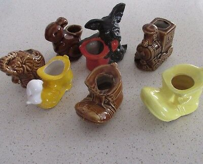 Bulk Lot 7 Vintage Ceramic Toothpick Holder, Tiny Vase,Ornaments Made in Japan