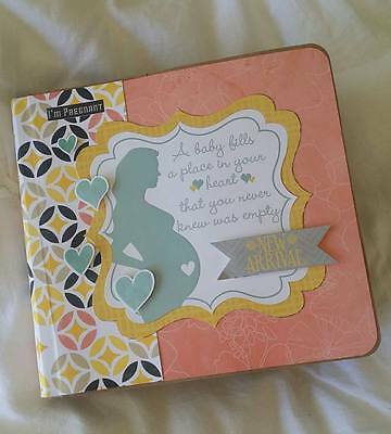 Handmade Pregnancy Journal - Record your monthly baby bump photos and thoughts.