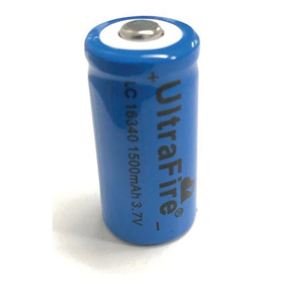 Ultrafire Size 16340 Rechargeable Battery 1500mAh 3.7V Lithium Li-Ion