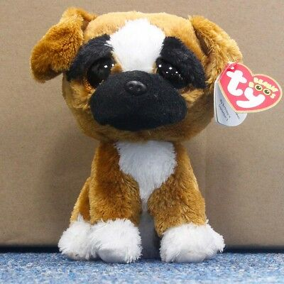 "Ty Beanie Boos 6"" Yellow Dogs Stuffed Plush Toy Soft Animals Toy Kid Plush Dolls"