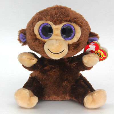 "Ty Beanie Boos 6"" Plush Monkey Stuffed Plush Toy Soft Animals Toy Kids Dolls"