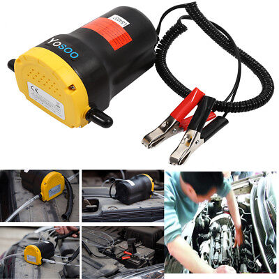 60W 12V Oil / Diesel Transfer Scavenge Pump / Extractor For Cars Vans Motorbikes