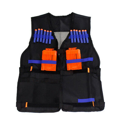 Tactical Vest Kids Fun Toys Gun Belt Jacket Foam Bullet Holder For Nerf N-strike