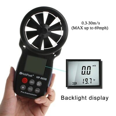 Digital Anemometer HP-866B Wind Speed Temperature Measurement Handheld Detector