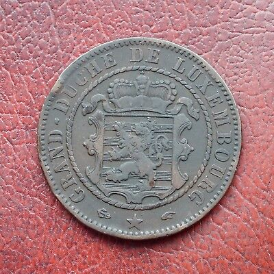 Luxembourg 1855A bronze 10 centimes