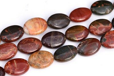 17x13MM Multicolor Picasso Jasper Flat Oval Grade AAA Natural Loose Beads 15.5""