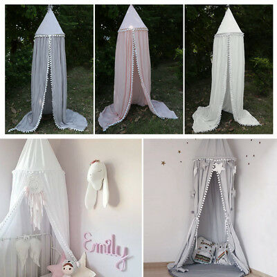 Kids Baby Girl Bed Canopy Bedcover Mosquito Net Curtain Bedding Round Dome Tent