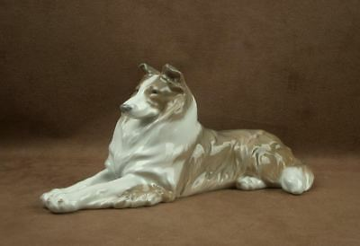 Superbe Grand Chien Colley En Porcelaine De Royal Copenhague Copenhagen