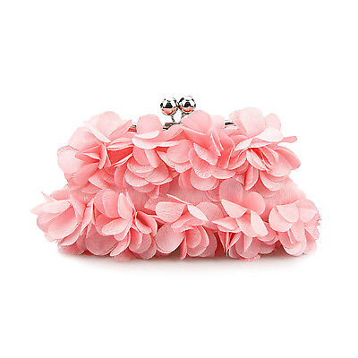 VENIMASEE Flower-Shape Prom & Party Evening Handbag, Bridal Clutches