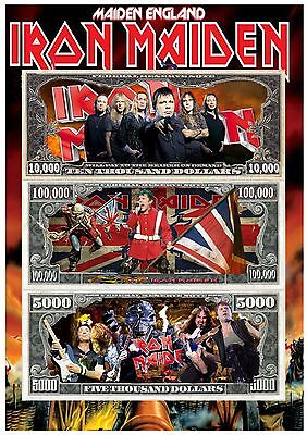 Iron Maiden A4 Dollar Poster